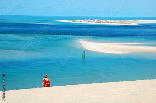 Fotografie, Obraz  sur la dune de bazaruto