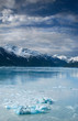 canvas print picture - blue ice on the ocean