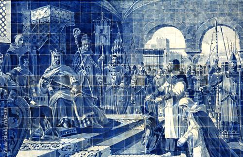 einzelne bedruckte Lamellen - portugal, porto: azulejo in the railway station (von TMAX)