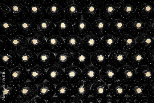 background of wine bottles Plakat