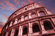 canvas print picture - red colosseum
