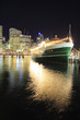 canvas print picture - dining boat at darling harbour