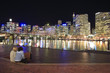 canvas print picture - sydney at night