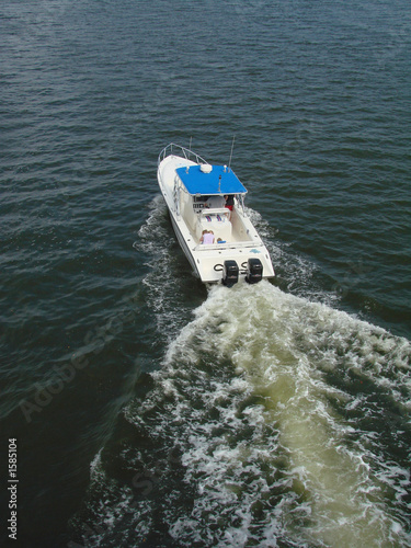 Poster Nautique motorise boating fun