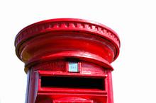 British Red Post Box, Isolated