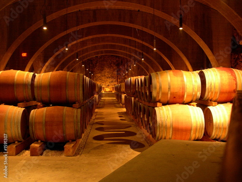 Photo wine barrells