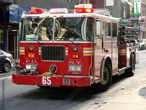 Photographie new york city fire truck