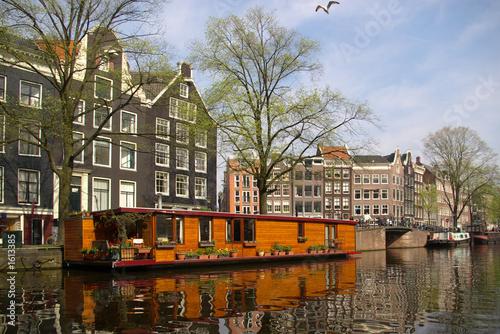 Photo  authentic amsterdam view
