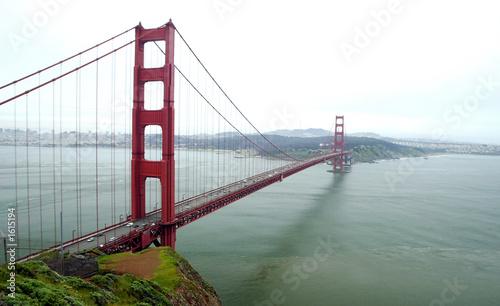 Papiers peints Rouge, noir, blanc the golden gate bridge