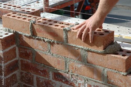 Foto op Plexiglas Wand bricklayer