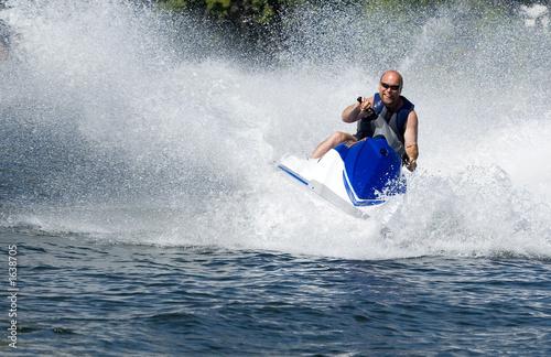 Garden Poster Water Motor sports seadoo in action