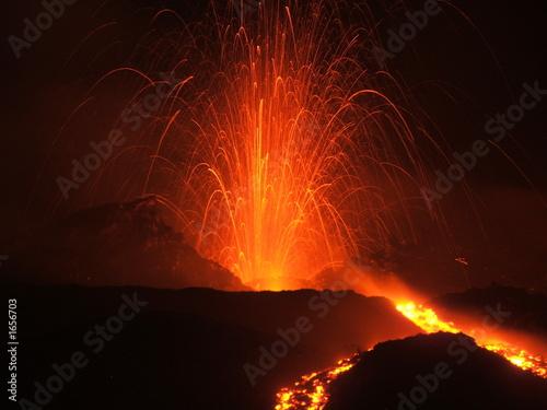 Poster Volcano eruption etna