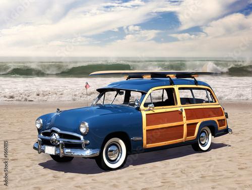 фотография  woodie on the beach