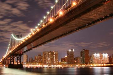 Fototapeta Mosty manhattan bridge at night