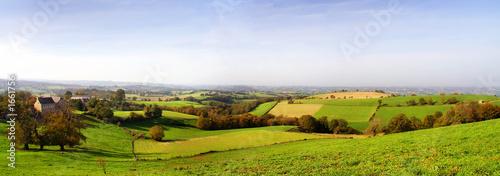 Foto op Plexiglas Blauwe hemel paysage aveyronnais