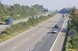 three-lane autobahn