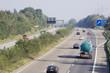 heavy traffic on a three-lane autobahn