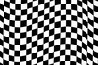 canvas print picture - wavy checkered pattern