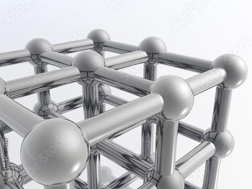 Canvas Print 3d molecule