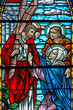 canvas print picture - stained glass window 1