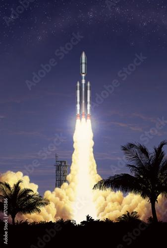 einzelne bedruckte Lamellen - rocket takeoff (von Stephen Sweet)