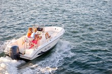 Four Ladies In A Motorboat