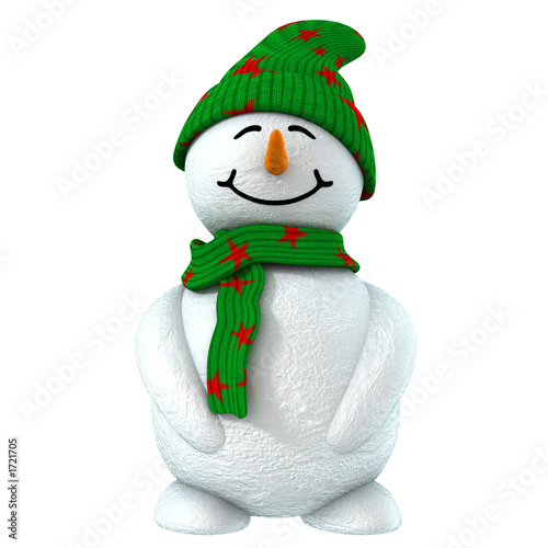 Fotografie, Obraz  3d snowman
