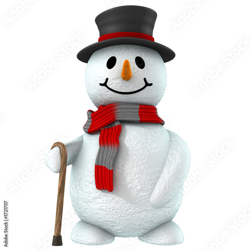 Photo  3d snow man