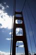 canvas print picture pfeiler der golden gate bridge im gegenlicht