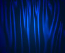 Blue Curtain Blauer Vorhang
