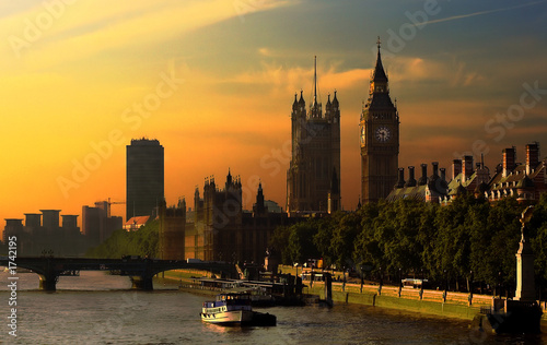 Tuinposter Londen london's burning