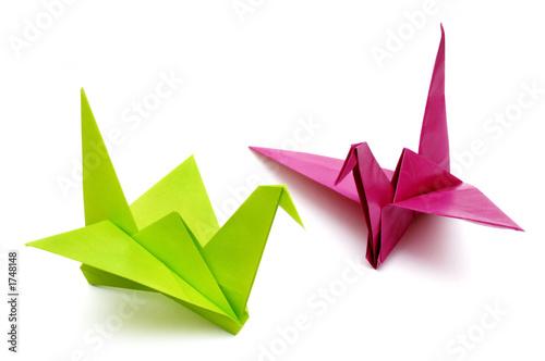 origami birds Poster