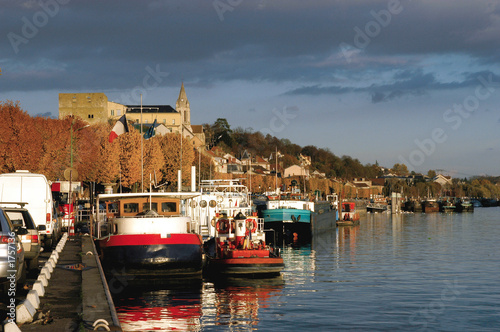 Fotografie, Obraz  le port fluvial