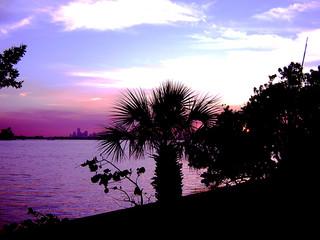 Fototapeta na wymiar sunset miami