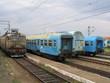 train en gare. ukraine