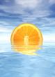canvas print picture orange sunset