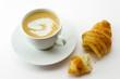 Leinwandbild Motiv café croissant