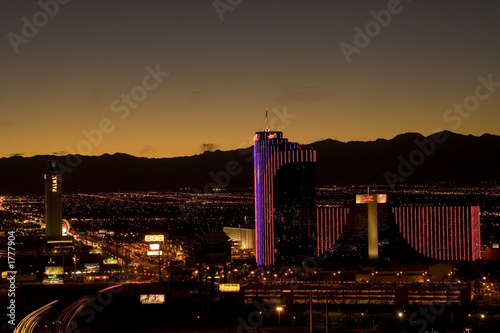 Poster Las Vegas dusk in las vegas