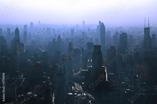 Photo Stands Shanghai shanghai skyline