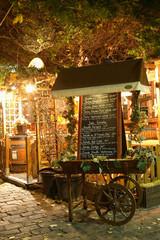Panel Szklany Do gastronomi quartier montmartre