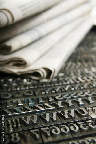 Fotografia, Obraz  daily newspaper and movable type