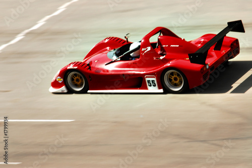 Poster Voitures rapides red racing car