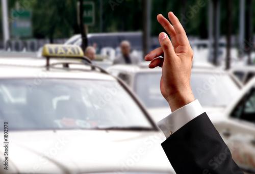 Fotografie, Obraz  hand and taxi