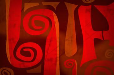 abstract design - primitive art