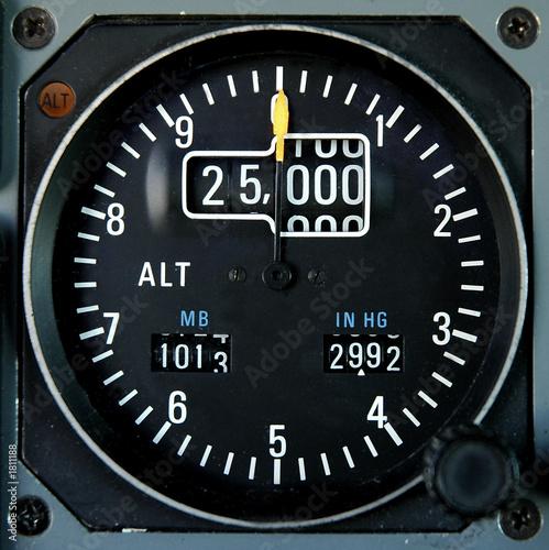 aricraft altimeter Canvas Print