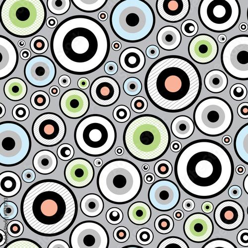 Foto-Stoff bedruckt - seamless funky retro pattern (von artzone)