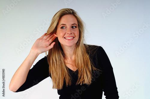 Fotografia, Obraz  woman listening
