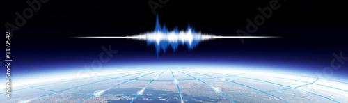 Fototapeta global sound header obraz