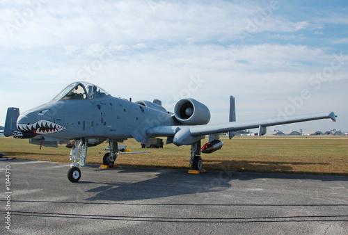 Canvas Print modern ground attack jet fighter