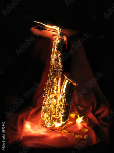 Fotografie, Obraz sax in the dark